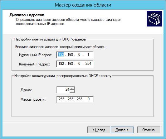Диапазон ip-адресов