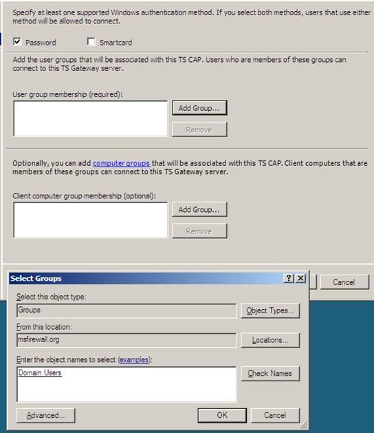 Создание пароля и группы