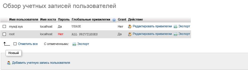 обзор учетных записей пользователей